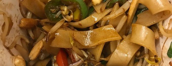 The Noodle Box is one of Café + Desayunos.