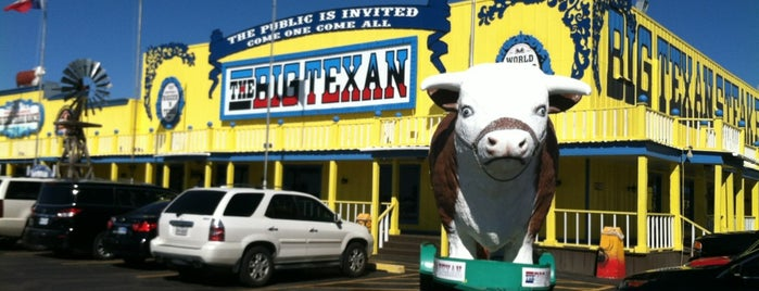 The Big Texan Steak Ranch is one of Historic Route 66.