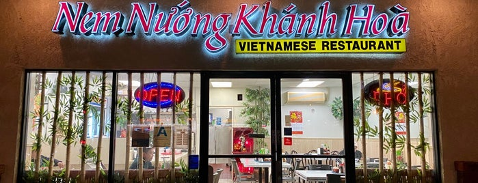 Nem Nuong Khanh Hoa is one of Jonathan Gold's 99 Essential LA Restaurants 2011.