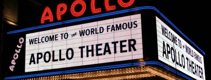 Apollo Theater is one of Top picks in Big Apple.