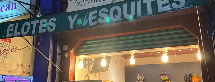 Elotes Y Esquites Coyoacan is one of Donde comer sin carne..