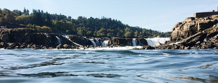 Willamette Falls is one of Portland, OR.