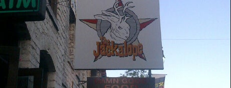 The Jackalope is one of Hook 'Em Horns- Austin.