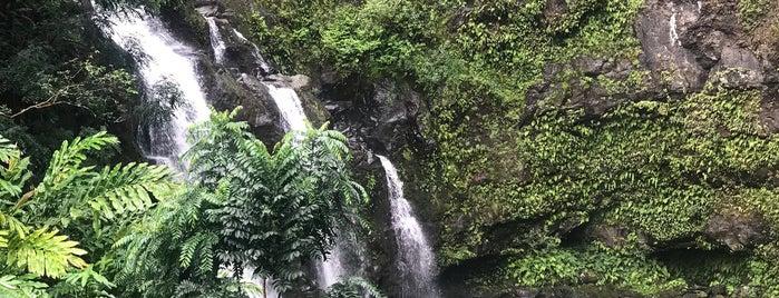 Waikani Falls is one of Hawaii.