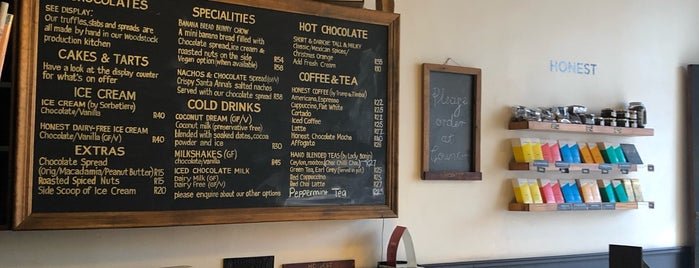 Honest Chocolate Café is one of Cape Town.