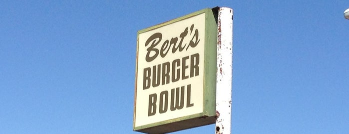 Bert's Burger Bowl is one of Diners, Drive-Ins, and Dives.