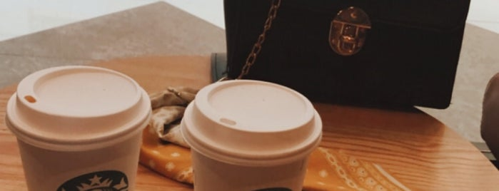 Starbucks is one of S 님이 좋아한 장소.