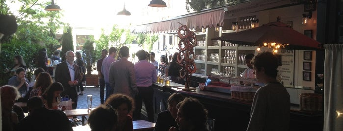 The Biergarten at The Standard is one of Uber's Guide to Summer Drinking Spots.