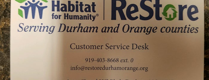Habitat for Humanity ReStore is one of Local Stores With Profits Benefiting Causes.