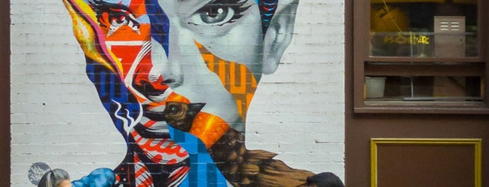 Audrey Hepburn Mural is one of NY 2.
