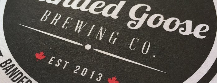 Banded Goose Brewing Company is one of Ontario Brewery Toury.