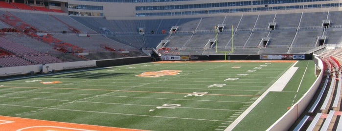 Boone Pickens Stadium is one of Big 12 Stadiums.