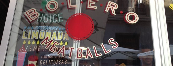 Bolero Meatballs is one of a valorar en Madrid.
