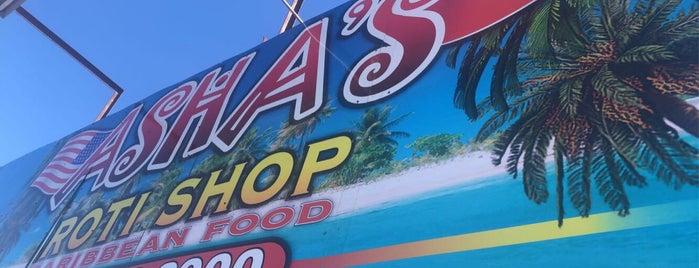 Asha's Roti Shop is one of International Tour of Baytown Cuisine.