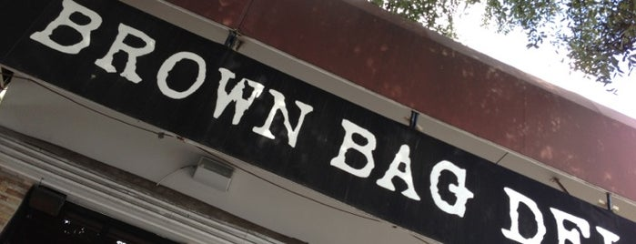 Brown Bag Deli is one of Houston spots.