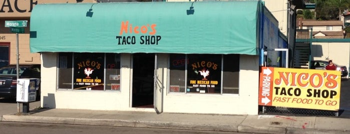 Nico's Taco Shop is one of San Diego Point of Interest.