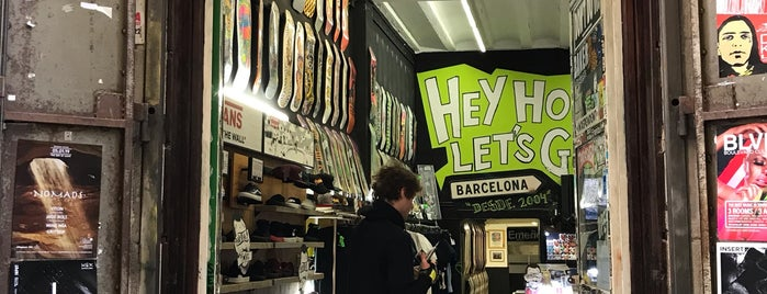 Hey Ho! Skate Shop is one of Barcelona.