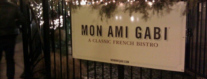 Mon Ami Gabi is one of Chicago's Coziest Spots.