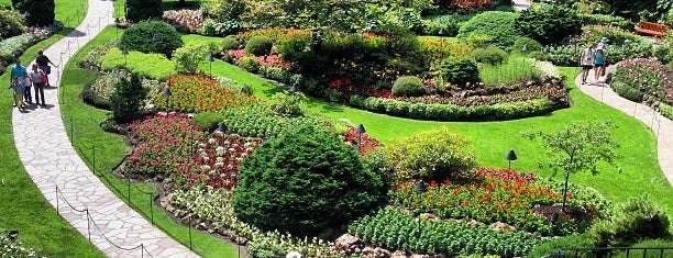 Butchart Gardens is one of Victoria, BC.