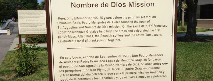 Mission of Nombre de Dios & La Leche Shrine is one of Museums, Parks and Schtuff.