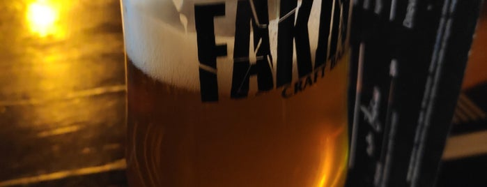 Fakin Craft bar is one of Zagreb.