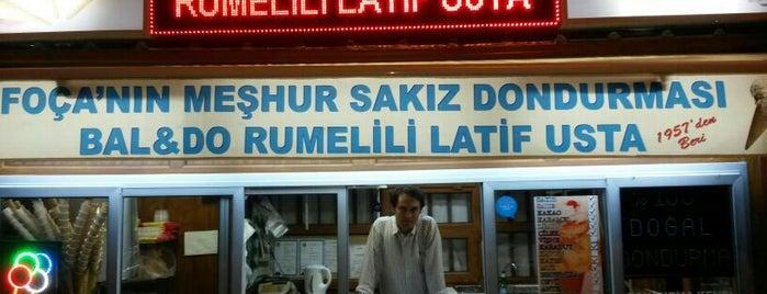 Rumelili Latif Usta Dondurma is one of İzmir.