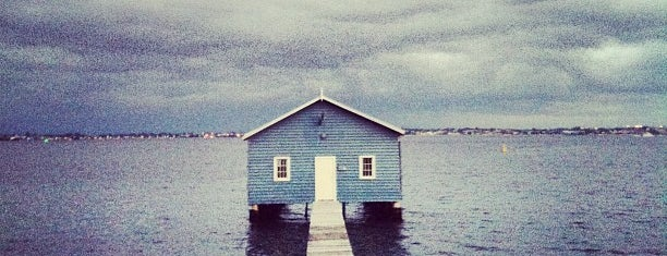 Crawley Edge Boatshed (Blue Boat House) is one of Around The World: SW Pacific.