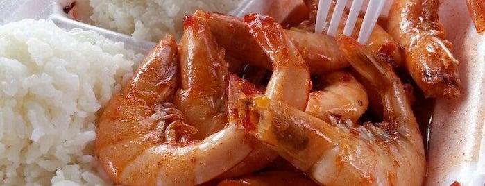 Romy's Kahuku Prawns & Shrimp Hut is one of 하와이 오하우 2013.