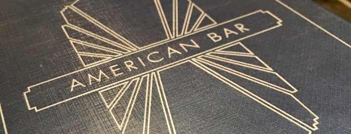 American Bar is one of London.