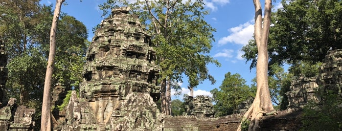 Angkor Thom West Gate is one of Angkor Archaeological Park Highlights.