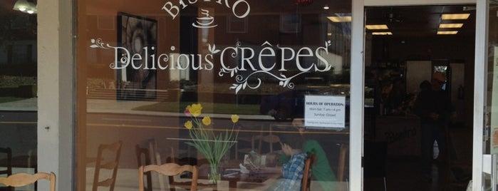 Delicious Crepes Bistro is one of สถานที่ที่ Elijah ถูกใจ.