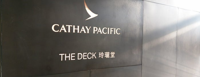 The Deck - Cathay Pacific Lounge is one of Posti che sono piaciuti a SV.
