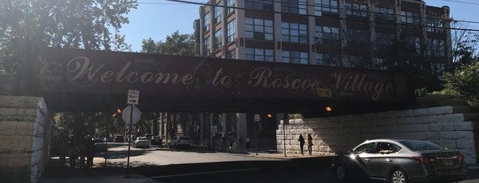 Roscoe Village is one of Lugares favoritos de Andy.