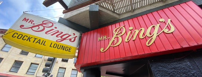 Mr. Bing's is one of SF places to go.
