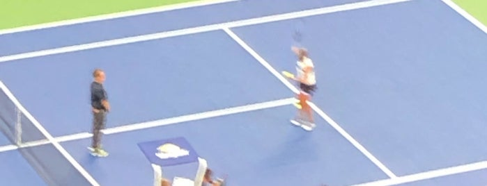 Grandstand - Billie Jean King National Tennis Center is one of สถานที่ที่ Amanda ถูกใจ.