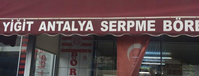 Yiğit Serpme Börek Salonu is one of ANTALYA YEMEK MEKANLARI 🍴🍗🍲🍳🍝🍜🍩🍰🍕🍔🍤🍦🍨.