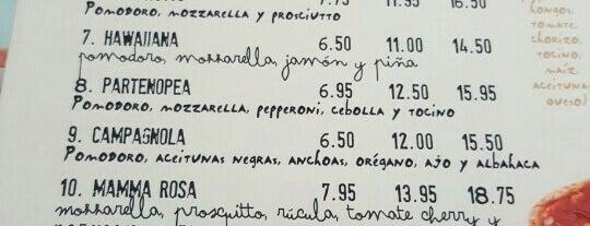 Mamma Rosa Pizza E Pasta is one of Pizzerias Italiana comida.