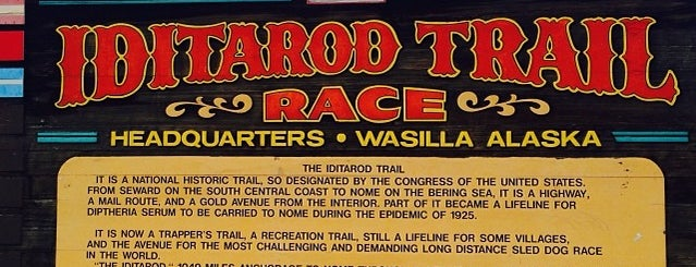 Iditarod Race Headquarters is one of Mushing.