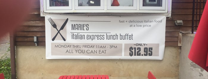 Marie's Italian Specialties & Seafood is one of DD & D's.