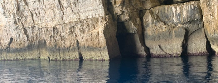 Blue caves is one of Corfu, Greece.