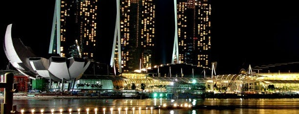 Marina Bay Sands Hotel is one of Singapore Contemporary Architecture Tour 2013.