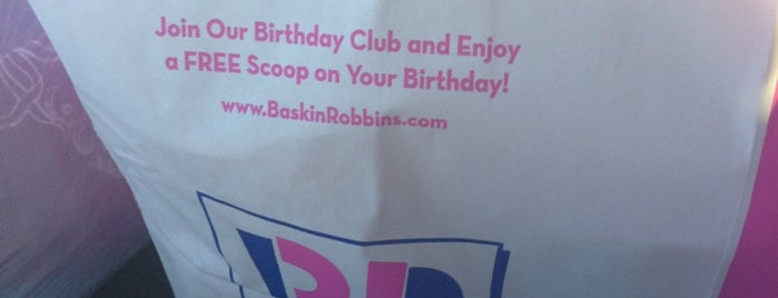Baskin-Robbins is one of Orte, die Melissa gefallen.