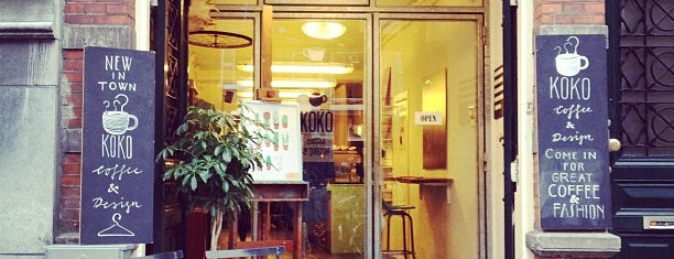 Koko Coffee & Design is one of My favorites in Amsterdam.
