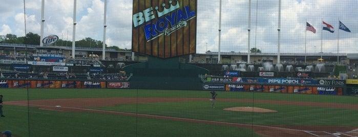 Kauffman Stadium is one of MLB Stadium Quest.