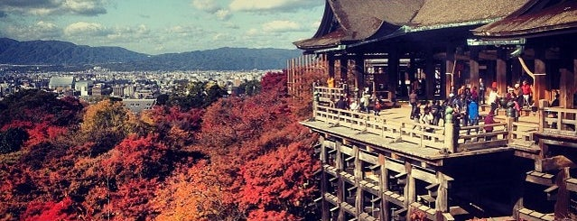 Kiyomizu-dera Temple is one of Kyoto.