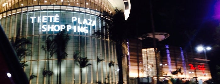 Tietê Plaza Shopping is one of Tempat yang Disukai Guilherme.