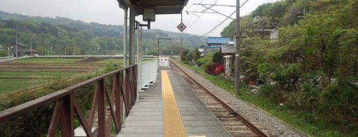 Onogami-Onsen Station is one of JR 키타칸토지방역 (JR 北関東地方の駅).