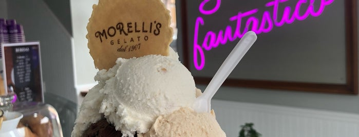 Morelli's Gelato is one of Lugares favoritos de Sandybelle.