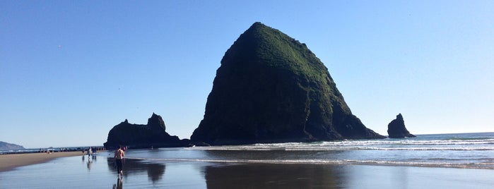 Haystack Rock is one of Oregon.