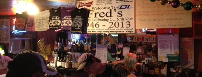 Fred's Lounge is one of SB '13.